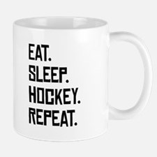 Eat Sleep Hockey Repeat Mugs