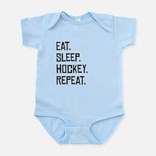 Eat Sleep Hockey Repeat Body Suit