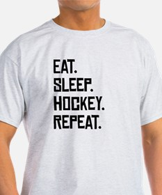 Eat Sleep Hockey Repeat T-Shirt