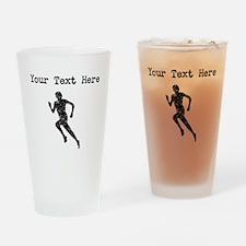 Distressed Runner Silhouette (Custom) Drinking Gla