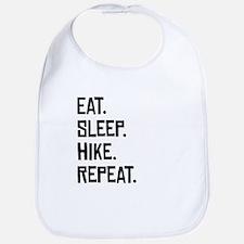 Eat Sleep Hike Repeat Bib
