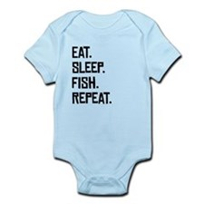 Eat Sleep Fish Repeat Body Suit
