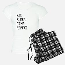 Eat Sleep Game Repeat Pajamas
