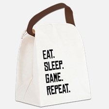 Eat Sleep Game Repeat Canvas Lunch Bag