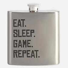 Eat Sleep Game Repeat Flask