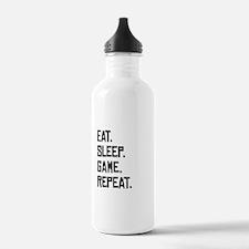 Eat Sleep Game Repeat Water Bottle