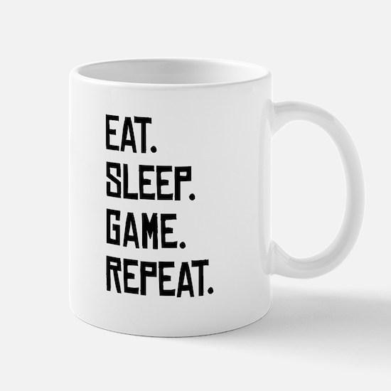 Eat Sleep Game Repeat Mugs