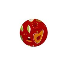 Mid Century Modern Red Print Mini Button (100 pack