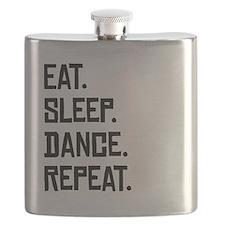 Eat Sleep Dance Repeat Flask