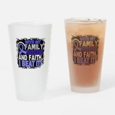 Prostate Cancer Survivor FamilyFrie Drinking Glass
