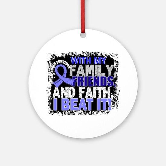 Prostate Cancer Survivor FamilyFr Ornament (Round)