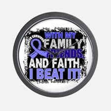 Prostate Cancer Survivor FamilyFriendsF Wall Clock