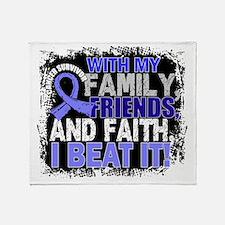 Prostate Cancer Survivor FamilyFrien Throw Blanket