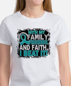 Peritoneal Cancer Survivor FamilyF Women's T-Shirt