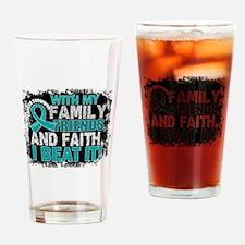 Peritoneal Cancer Survivor FamilyFr Drinking Glass