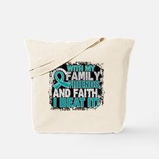 Peritoneal Cancer Survivor FamilyFriendsF Tote Bag