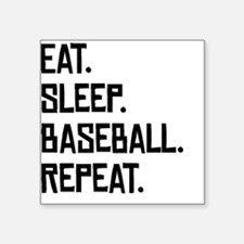 Eat Sleep Baseball Repeat Sticker