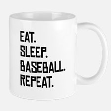 Eat Sleep Baseball Repeat Mugs