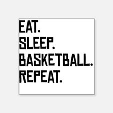 Eat Sleep Basketball Repeat Sticker