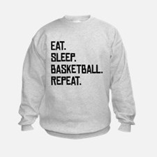 Eat Sleep Basketball Repeat Sweatshirt