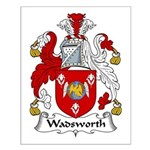 Wadsworth Family Crest Small Poster