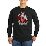 Wadsworth Family Crest Long Sleeve Dark T-Shirt