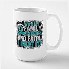 Ovarian Cancer Survivor FamilyFriendsFa Mug