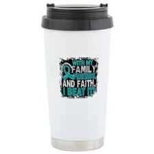 Ovarian Cancer Survivor Travel Coffee Mug