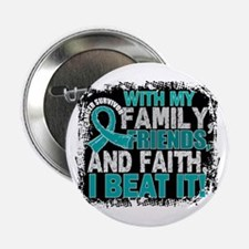 "Ovarian Cancer Survivor FamilyFriends 2.25"" Button"