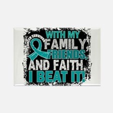 Ovarian Cancer Survivor FamilyFri Rectangle Magnet