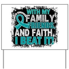 Ovarian Cancer Survivor FamilyFriendsFai Yard Sign