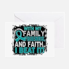 Ovarian Cancer Survivor FamilyFriend Greeting Card