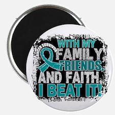 """Ovarian Cancer Survivor Fa 2.25"""" Magnet (100 pack)"""