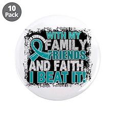 "Ovarian Cancer Survivor Fami 3.5"" Button (10 pack)"