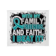 Ovarian Cancer Survivor FamilyFriend Throw Blanket