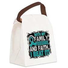 Ovarian Cancer Survivor FamilyFri Canvas Lunch Bag