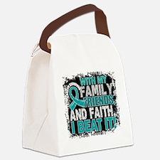 Ovarian Cancer Survivor FamilyFri Canvas Lunch Bag