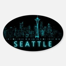 Digital Cityscape: Seattle, Washing Decal