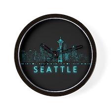 Digital Seattle Wall Clock