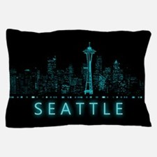 Digital Seattle Pillow Case