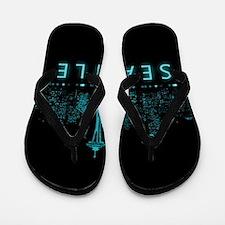 Digital Seattle Flip Flops