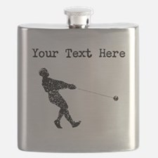 Distressed Hammer Throw Silhouette (Custom) Flask