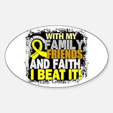 Osteosarcoma Survivor FamilyFriends Sticker (Oval)