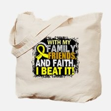 Osteosarcoma Survivor FamilyFriendsFaith Tote Bag