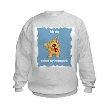 Dog Ruined Homework Sweatshirt