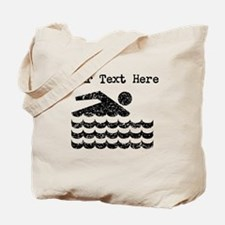 Distressed Swimming (Custom) Tote Bag