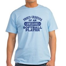 Proud Softball Grandpa T-Shirt