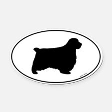 Clumber Spaniel Oval Car Magnet