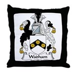 Wadham Family Crest Throw Pillow