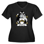 Wadham Family Crest Women's Plus Size V-Neck Dark